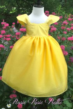 Princess Dress Yellow Dress Tulle Dress by RosiePosiePrettie