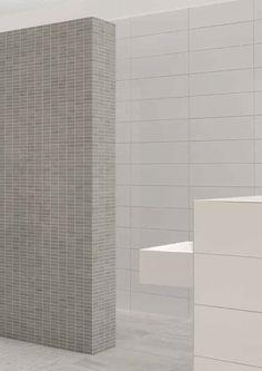 glazed matte white tile mosa - Google Search Amsterdam Apartment, New Bathroom Designs, Room Tiles, Large Bathrooms, White Tiles, Bathroom Inspiration, Light Colors, Toilet, Bath Room
