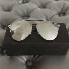 f4907795f80ca Dior Reflected Prism 63mm Sunglasses Reflected Prism 63mm Oversized  Mirrored Brow Bar Sunglasses. New condition