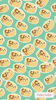 #pattern #wallpaper #iphone #background #colorful #pancakes #breakfast #food #egg #tasty