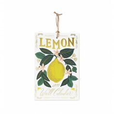 Rifle Paper Co. Lemon 2019 Wall Calendar 2019 is here and it's not to late to pick up a cute new wall calendar! This adorable Rifle Paper co features an assortment of lemon images sure to brighten your walls.