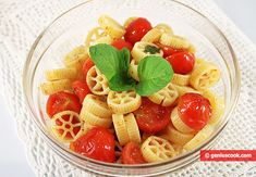 Pasta and Tomato Salad | Italian Food Recipes | Genius cook - Healthy Nutrition, Tasty Food, Simple Recipes