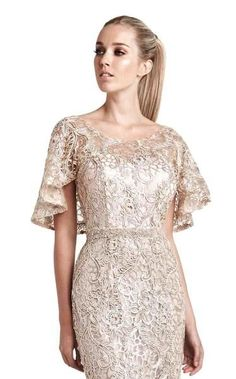 NewYorkDress carries beautiful dresses from top designers for weddings, prom, evening events and more. Shop our wide selection of gorgeous gowns today! Dressy Dresses, Elegant Dresses, Dress Skirt, Lace Dress, Dress Brokat, Simple Gowns, Batik Dress, Elegant Outfit, Beautiful Gowns