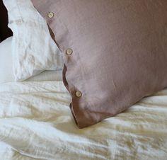 Linen Pillow Shams | Rough Linen Natural Linen Pillowcases