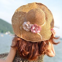 Fascinator flower floppy straw hat for women UV summer wear | Buy cool cap,fashion hats on buyhathats.com