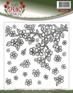 Prägeschablone, Spring, Amy Design 15,2 x 15,4cm  ADD10041
