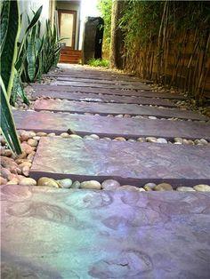 Walkway Paving Materials Tropical Landscaping Z Freedman Landscape Design Venice, CA