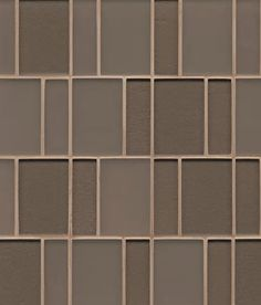 Manhattan Gloss and Matte Combination Brick Pattern Glass Mosaic in Ash, Sold by the Piece Ceramic Mosaic Tile, Stone Mosaic Tile, Marble Mosaic, Mosaic Wall, Mosaic Glass, Wall Tiles, Manhattan Glass, Victorian Fireplace Tiles, Feature Tiles