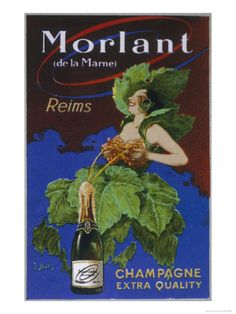 Morlant Champagne Made in Reims Giclee Print