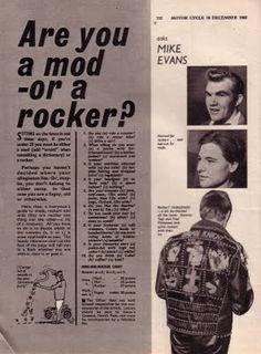 Are you a mod or a rocker? Apparently I'm a rocker. Eddie Cochran, Rock N Roll, 1960s Britain, Youth Subcultures, Swinging London, San Francisco, Teddy Boys, Mod Fashion, Sporty Fashion