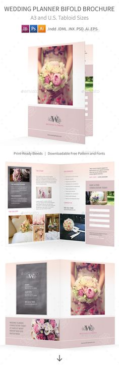 Square Trifold Wedding Brochure Brochures, Squares and Brochure - wedding brochure template