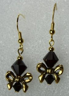 bow & bead earrings