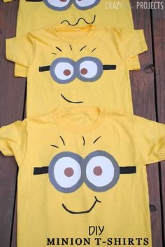 Paint Your Own Minion Shirt for Kids (Great for dress up day idea!)