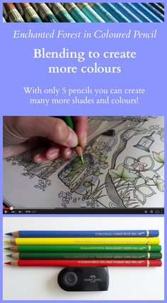 With only 5 pencils you can create many more shades and colours! Take a look at the video and try it yourself!
