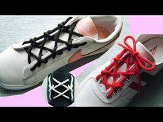 〔靴紐の結び方〕鉄塔のような模様が特徴の靴ひもの通し方 丸ひも編 how to tie shoelaces - YouTube Shoe Lacing Techniques, Ways To Lace Shoes, Creative Shoes, Lace Art, Converse Sneakers, Paracord, Refashion, Diy Clothes, Gladiator Sandals