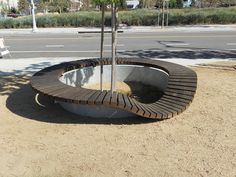 Bench - Flat tire. designed by architect Michael Maltzan and landscape architect James Burnett
