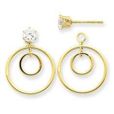 14k Double Circle Jacket w/CZ Stud Jewelry Adviser. $91.94. Save 60%!