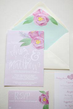 Hand Painted #Wedding Invitations