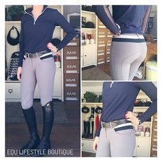 In LOVE with the new @cavalleriatoscana breeches we got in the other day Grey base and navy base available #equestrianlife #equestrianstyle #equestrian #WEF #wef2016 #want #tackshop #breeches