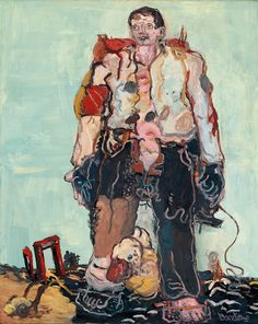 Georg Baselitz, Der Hirte, 1966, oil on canvas, 163 x 130,7 cm