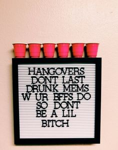 p i n t e r e s t : ✰ casey elizabeth ✰ party decorations deko drinks getränke ideas ideen recipes schnelle party party drinks College House, College Apartments, College Dorm Rooms, Be My Hero, Beer Pong Tables, Teenage Dream, Party Time, Letter Board, Life Quotes