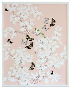 Dawn Wolfe, Dimensional Chinoiserie: Blush - Dawn Wolfe Design - Brands   One Kings Lane