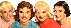 1950's HAIRSTYLES | ... hairstyles were softand curly. Straight hair was out. Short hair was