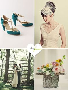 The lovely GREEN WEDDING SHOES featured our amazing ALL DRESSED UP heels in Teal!!