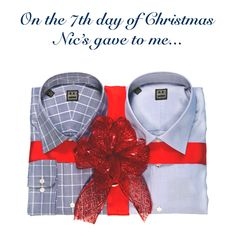 Cotton-fabric dress shirts in various varieties and colors.