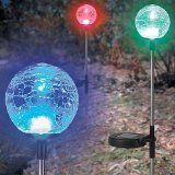 BSB Stores - Home & Garden : Solar Crackle Glass Ball Lights, a Pack of 3 pcs in a set. at bsbstores.com