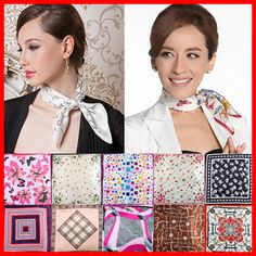 2013 New Design Small Square Scarf Polyester Mocket High Quality 50x50cm Handkerchief Cheap Fashion Imitated Satin Silk Scarves $2.20