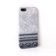 Aztec Paisley Grey iPhone Case For iPhone 6 Plus by PatternPanda