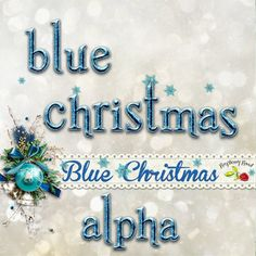 A blue Christmas themed scrapbook collection from Raspberry Road.