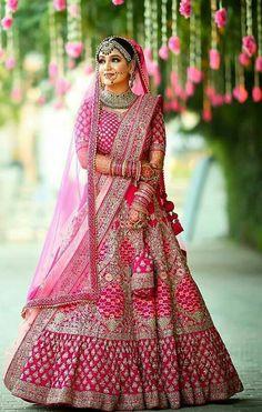 Indian Bridal Photos, Indian Bridal Outfits, Indian Bridal Fashion, Indian Bridal Wear, Indian Fashion Dresses, Pink Bridal Lehenga, Designer Bridal Lehenga, Indian Bridal Lehenga, Indian Bride Photography Poses