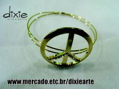 Bracelete Peace and Love  www.mercado.etc.br/dixiearte