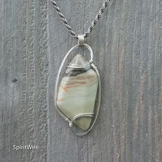 Rare Healing Infinite Stone Pendant Sterling Silver Wire