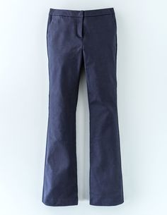 #Boden Twickenham Slim Flare Navy Women Boden, Navy #Magically leg-lengthening. A definitive classic. Pair with your favourite heels and the Richmond Slim Flare will do the rest. The key here is the premium stretch fabric, which contains even more elastane - it means comfort, structure without rigidity and incredible recovery wear after wear. So theyll never lose that perfect, kicks-out-from-the-knee cut.