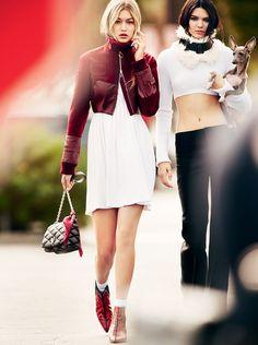 Kendall Jenner, Gigi Hadid, and Norman Jenner for Vogue // Photo: Mario Testino