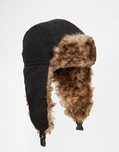 f3a1dcfc372 Image 1 of Jack   Jones Trapper Hat Fur Hats