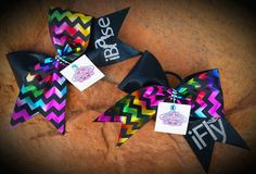 Cheer Bows Set of 2 by CheerCandyBoutique on Etsy