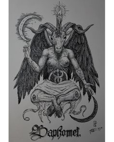 Baphomet by Blial Cabal #fineline #indiaink