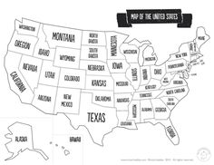List of the 50 States in Alphabetical Order | Geography | Pinterest ...