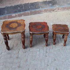 Abha Set of 3 Stoles - Wooden Wonders - Events