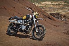 Modern day desert sleds: Ton Up Garage recreates the original Bonneville scrambler vibe. - Bike EXIF