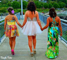 prom photography cute colorful dressed