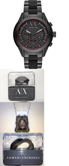 c5e52cac55e Mixed Lots 64520  Armani Exchange A X Men S Active Black Watch Japan  Movement Stainless Steel