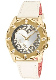 Paris Hilton Women's Allure White Crystal Silver Dial Red Pearl Tone Genuine Calf Leather discovered on Fantasy Shopper Discount Watches, Paris Hilton, Casual Watches, Beautiful Watches, Glamour, Heart Jewelry, Fashion Watches, Calf Leather, Rolex Watches