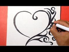 how to draw a heart -   como dibujar un corazon                                                                                                                                                                                 Más