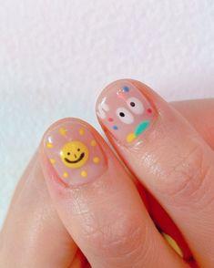 Pretty Nail Colors, Pretty Nail Art, Cute Nail Art, Cute Nails, Hair And Nails, My Nails, Nail Manicure, Nail Polish, Nails For Kids