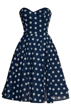 Polka dot 50s Inspired Full Circle Rockabilly Dress  by Style Icon's Closet 50s style Vintage Inspired Pin-Up African Print Retro Rockabilly Clothing